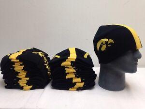 105f29fcd Lot Of 24 IOWA HAWKEYES Football Helmet Beanie Hat College Winter ...