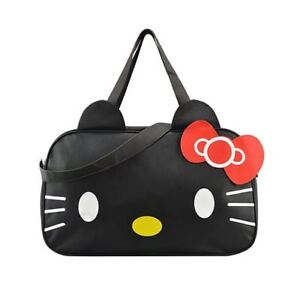 Image is loading Women-Travel-Duffel-Bag-Hello-Kitty-Cartoon-Handbags- 2c507f3abb1db