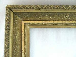 ANTIQUE-FITS-10-X12-034-GOLD-PICTURE-FRAME-WOOD-GESSO-ORNATE-FINE-ART-COUNTRY