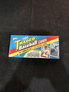 1992 Topps Traded Baseball 132 Card Factory Sealed Set