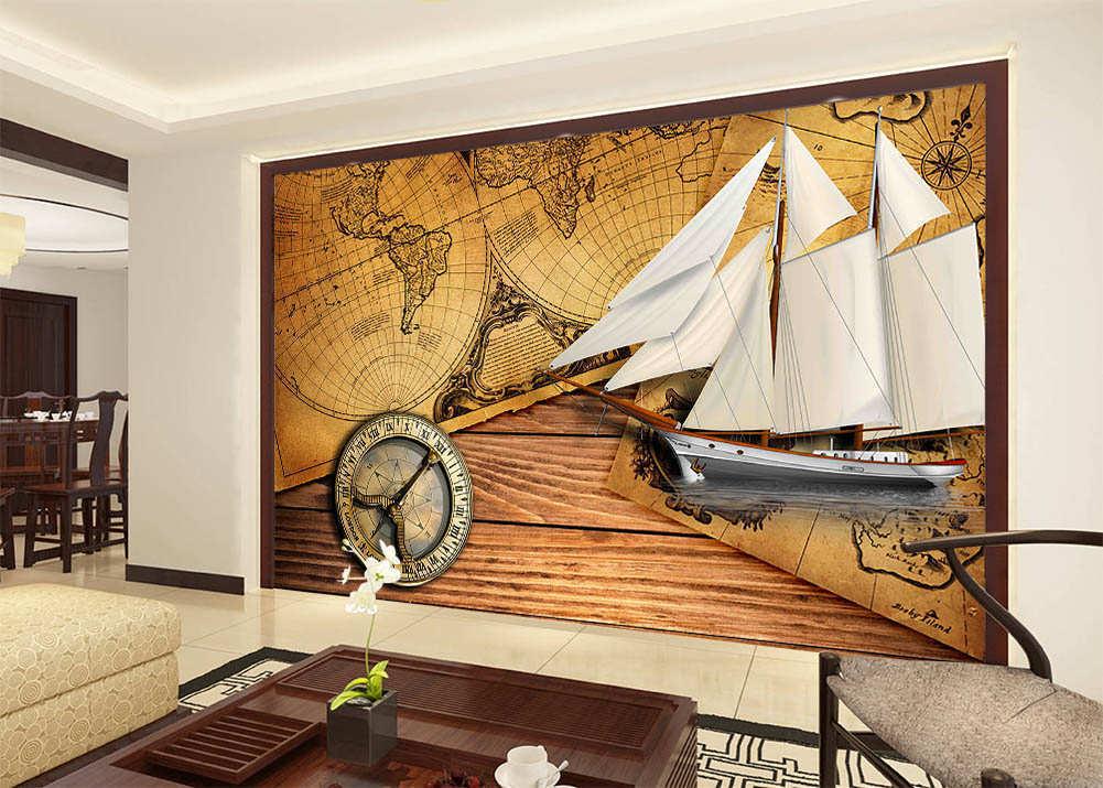 To Western Seas 3D Full Wall Mural Photo Wallpaper Printing Home Kids Decor