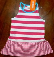 Dress Set Gymboree Pink Striped Summer Girl Baby Sz 6-12 Month