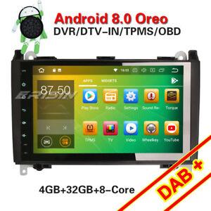9-034-Android-8-0-Autoradio-Navi-DAB-BT-Mercedes-A-B-Klasse-Sprinter-Viano-Vito-W169