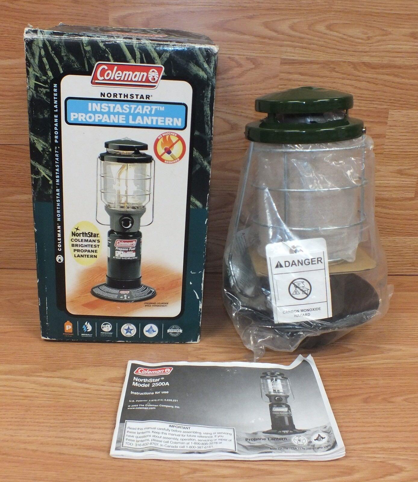 Genuine Coleman NorthStar Model 2500A Propane Lantern in Box READ