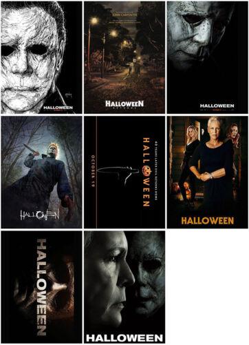 8pcs Halloween Movie 2018 Mirror Surface Postcard Promo Card Poster Card IOPPER