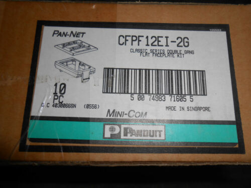 PANDUIT CFPF12EI-2G DOUBLE GANG FLAT FACEPLATE KIT