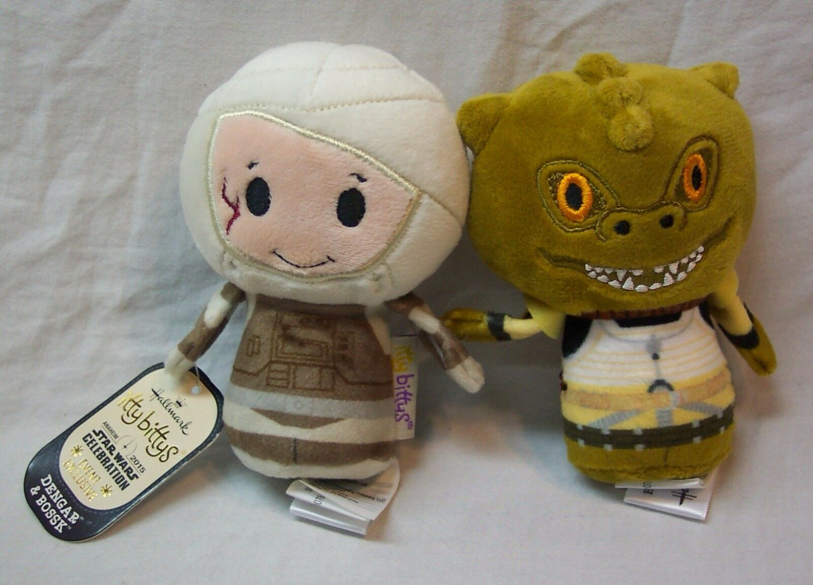 DENGAR & BOSSK Hallmark Itty Bittys Star Wars Celebration 2015 EXCLUSIVE TOY NEW