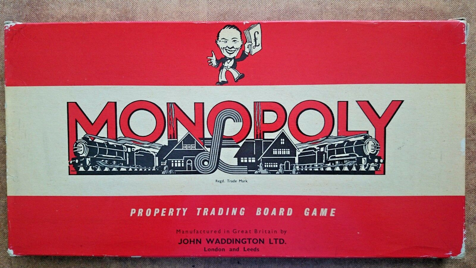 Vintage Monopoly Game by Waddingtons 1960s