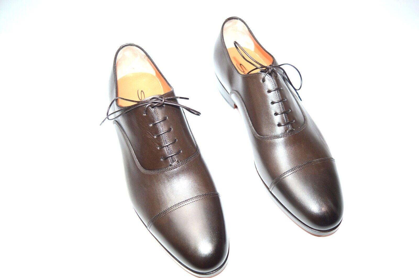 NEW SANTONI Dress Leather schuhe Größe Eu 43 Uk 9 Us 10 (27R)