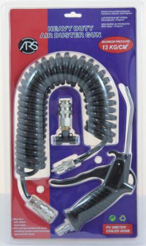 DRUCKLUFTPISTOLE Spiralschlauch BLASPISTOLE mit Schnellkupplung für MAN