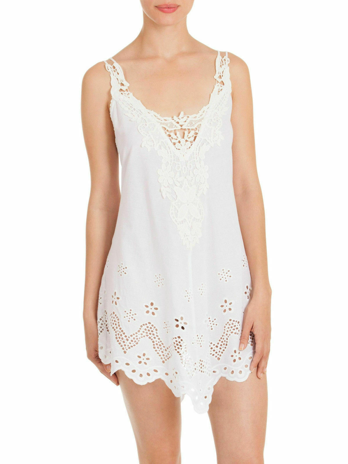 In Bloom byJonquil Idlewild Chemise Short Gown White(Ivory) Cotton Small S NWT