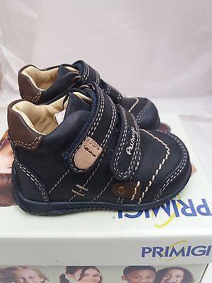 Bebé/niño PRIMIGI Dale Pre-Walker Zapatos en Azul/Marrón Talla EU 18/UK 2