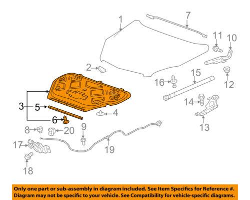 GMC GM OEM 10-17 Terrain Hood-Insulator 84057182