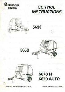 fiatagri hesston 5630 5650 5670h 5670 auto round baler workshop rh ebay com Hesston Hay Baler Hesston 5530 Baler Problems
