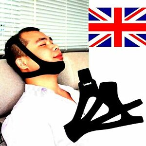 NEW Anti Snore Stop Snoring Sleep Apnea Strap Belt Jaw Solution Chin Support UK 7109532731123