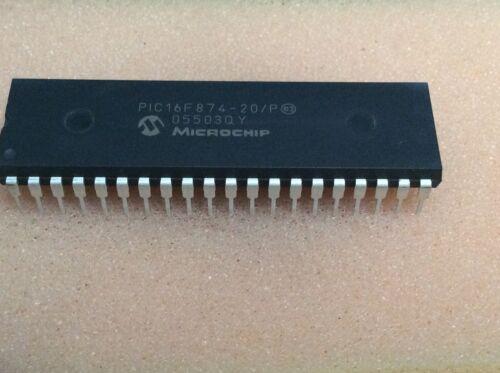 pic16f874-20//p mircrochip 8-bit micro 20mhz dip40 #bp 1 PC