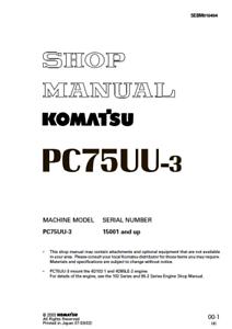 komatsu excavator pc75uu 3 shop, service, repair manual ebayimage is loading komatsu excavator pc75uu 3 shop service repair manual