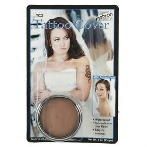 Mehron TC3 Tattoo Cover Up Medium Color Professional Makeup Flaw ...