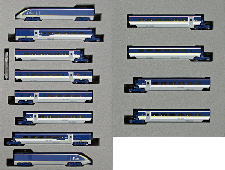 Kato 10-1297 10-1298 Eurostar Nuevo Coloree e300 12 Coches Set (escala N)