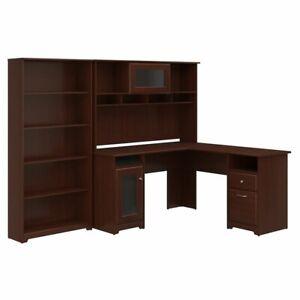 Bush Furniture Cabot L Shaped Desk With Hutch And 5 Shelf