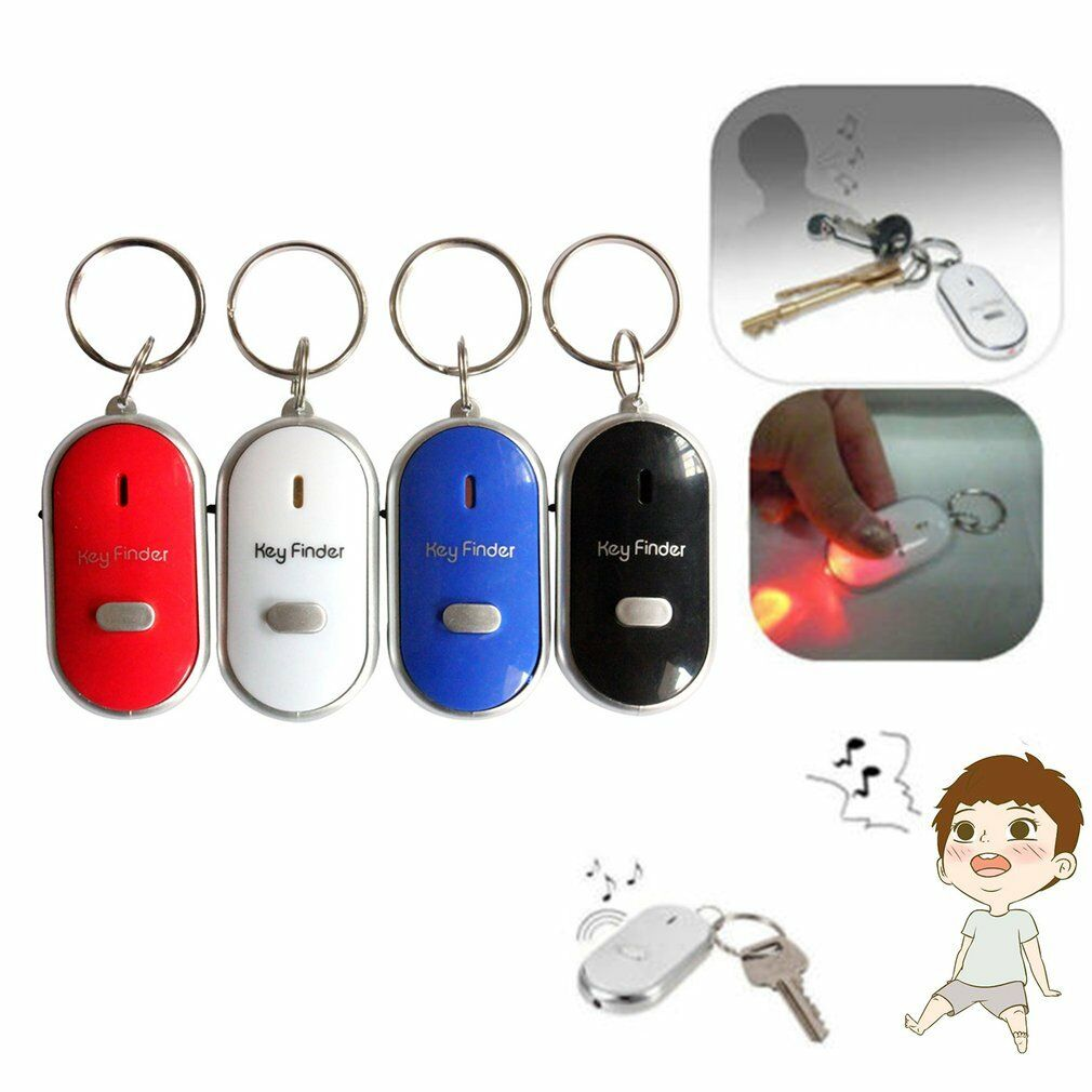 Security Alarm Whistle Sound Led Light Anti-lost Alarm Key Finder Locator Keychain Device Random Color Modern And Elegant In Fashion Security & Protection