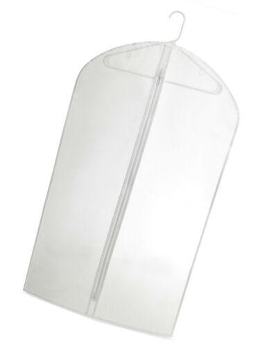 4 Pc Clear Vinyl Suit Bag Garment Bags 24/'/' x 40/'/' With Zipper For Travel