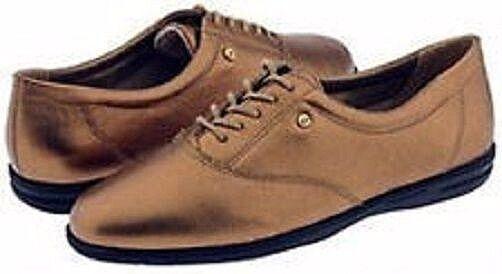 85c8913d72 Easy Spirit Motion Leather Oxfords Flats Walking Shoes Copper Penny Sz 5  Med for sale online | eBay
