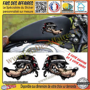 Stickers-Autocollant-loup-biker-harley-bobber-moto-custom-wolf-decal-route-66