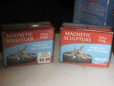 2 Golf Gear Magnet Set Magnetic Sculpture Toy Desktop Stand Stress Relief