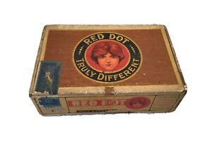 Vintage-Cigar-Box-Red-Dot-Truly-Different-Federal-Cigar-Co-Red-Lion-PA