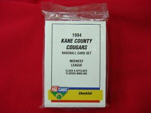 1994-KANE-COUNTY-COUGARS-K-MILLAR-MINOR-LEAGUE-TEAM-SET-FLEER-PROCARDS-SEALED