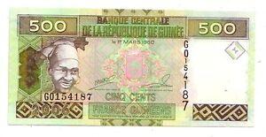 Guinea-500-franchi-2006-FDS-UNC-pick-39-lotto-3718
