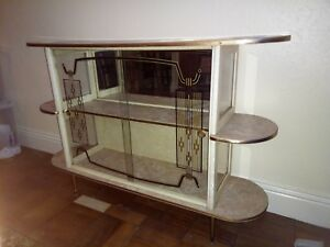 Image Is Loading Unusual Vintage Retro Cocktail Display Cabinet In Good