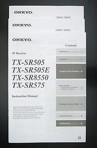 onkyo tx sr505e tx sr8550 tx sr575 original av receiver manual ebay rh ebay com Onkyo Receivers TX Onkyo Receivers TX