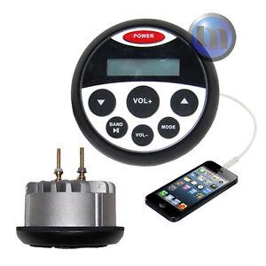 NEW Bluetooth Marine Boat Radio Stereo Waterproof MP3/USB/FM/AM/<wbr/>Ipod Radio
