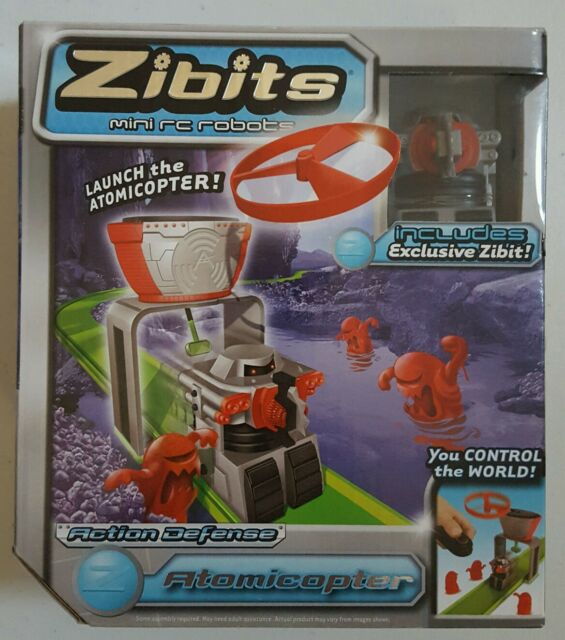 Zibits Mini RC Robots Action Defense Atomicopter  CTR612 NEW NIB
