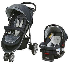 Graco Baby Aire 3 Système De Voyage Poussette Avec Snuglock 30 Infant Siège Voiture Mckinley-afficher Le Titre D'origine