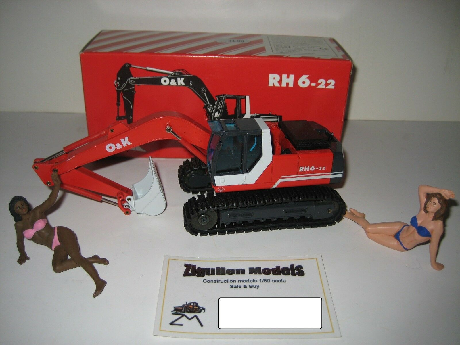 O&k RH 6-22 Excavateurs tieflöffel vers à soie  334.5 NZG 1 50 neuf dans sa boîte