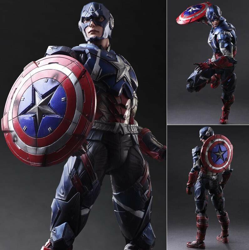 Avengers CAPITAN AMERICA cifra giocattolo Statuetta  Statua Collezione modellololololo in Pvc Senza Scatola  sconto online di vendita