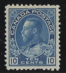 MOTON114-117-George-V-10c-Canada-mint-well-centered
