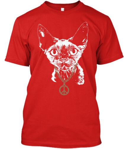 Devon Rex Peace Chain Standard Unisex T-shirt