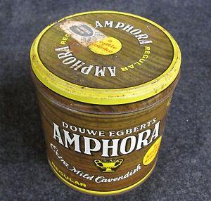 Vintage Douwe Egberts AMPHORA Extra Mild Cavendish Advertising Tin (AB340)