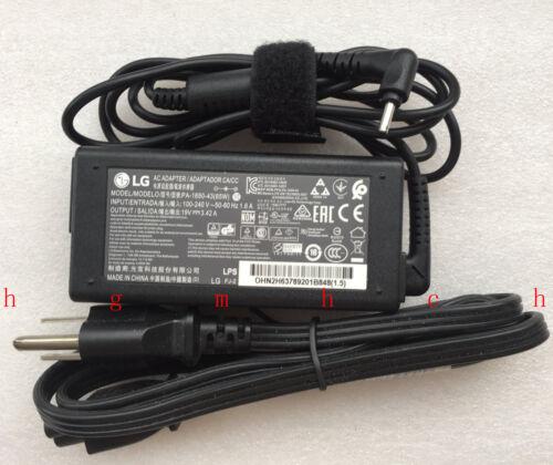 New Original OEM LG 65W AC Adapter/&Cord for LG gram 15Z980-R.AAS9U1 TS Ultrabook