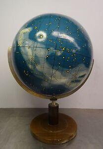Antiker-Kosmos-Globus-grosser-seltener-Columbus-Himmelsglobus-Prof-Dr-J-Riem