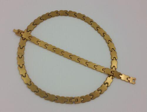 18k Or Plaqué Acier Inoxydable X Coeur Love Hugs Kisses XO Collier Bracelet Set