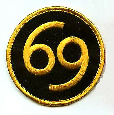 69 PATCH EMBROIDERED 69 PATCH FANCY DRESS 69 PATCH