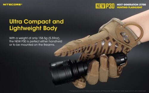 Combo NITECORE New P30 Next Generation 21700 HUNTING Flashlight 1000 Lumens