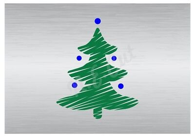 Christmas Tree Stencil A5 A4 A3 A2 A1 A0 14cm To 1.2 Meters Or Bigger Cmas005 Hoge Veiligheid