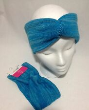 Imagin8 Headwrap Head band Headband Turban Twist Knot Stretch Knit Lot of 2 Blue