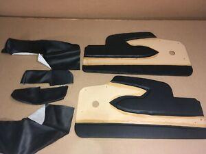 1958-Corvette-Black-Door-Panels-pair-Left-amp-Right-w-Armrest-covers-58